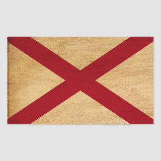 Bandera de Alabama Pegatina Rectangular