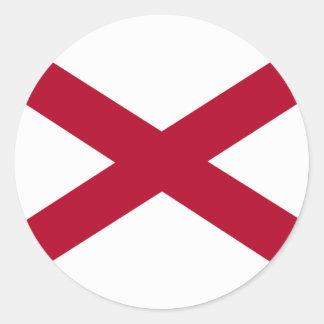 Bandera de Alabama Pegatina Redonda
