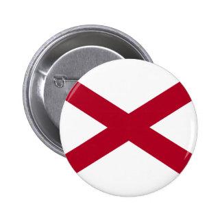 Bandera de Alabama Pin Redondo De 2 Pulgadas