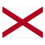 Bandera de Alabama Postales