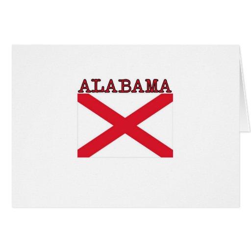 Bandera de Alabama Tarjeta De Felicitación