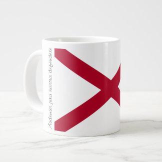 Bandera de Alabama y taza del lema Taza Grande