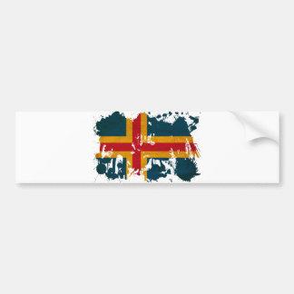 Bandera de Aland Pegatina Para Auto