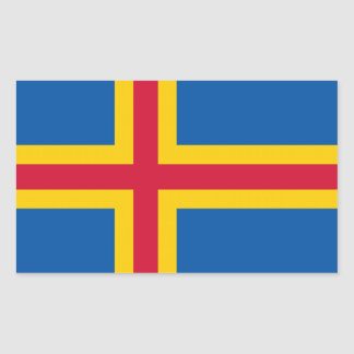 Bandera de Aland Pegatina Rectangular