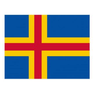 Bandera de Aland Postales