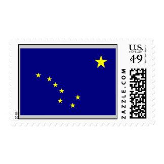 Bandera de Alaska Estampilla