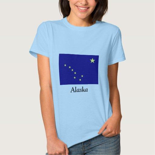 Bandera de Alaska Poleras