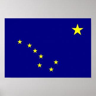 Bandera de Alaska Póster