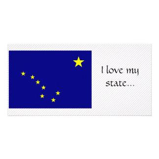 Bandera de Alaska Tarjeta Fotografica Personalizada
