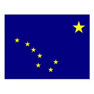 Bandera de Alaska Tarjeta Postal