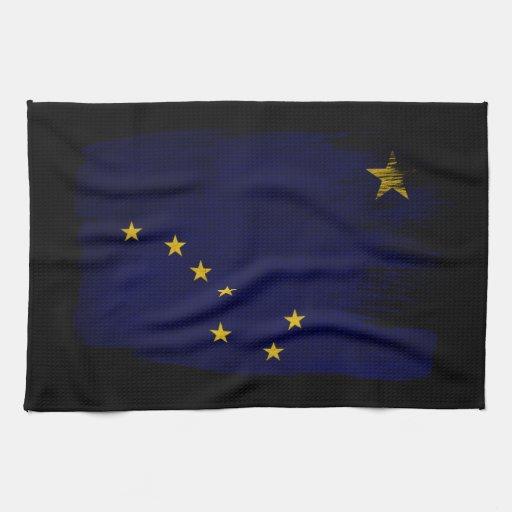 Bandera de Alaska Toalla