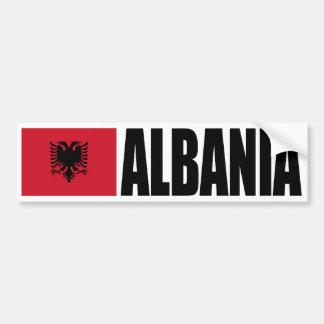Bandera de Albania Pegatina De Parachoque