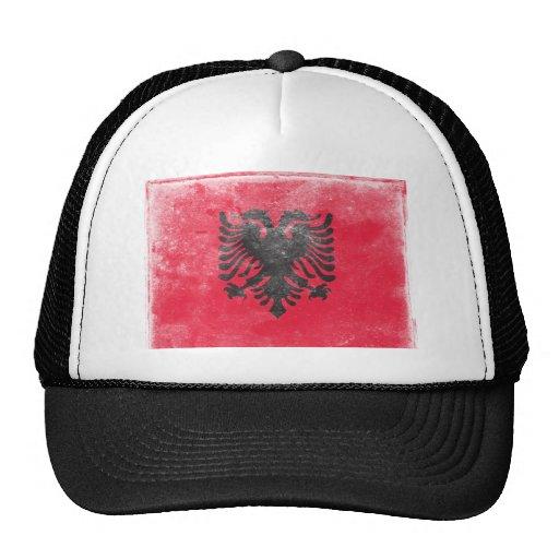 Bandera de Albania del vintage Gorra