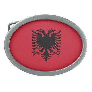 Bandera de Albania Hebilla Cinturon Oval