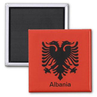 Bandera de Albania Imán Cuadrado