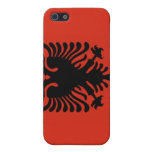 Bandera de Albania iPhone 5 Coberturas