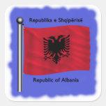 Bandera de Albania Calcomanía Cuadradas Personalizada