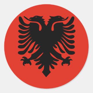 Bandera de Albania Pegatina Redonda