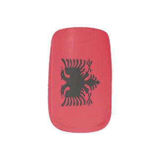 Bandera de Albania Stickers Para Uñas