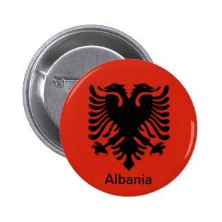 Bandera de Albania Pin Redondo De 2 Pulgadas