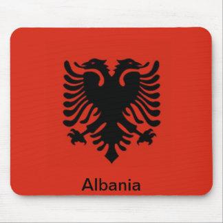 Bandera de Albania Tapete De Ratones