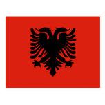 Bandera de Albania Tarjetas Postales