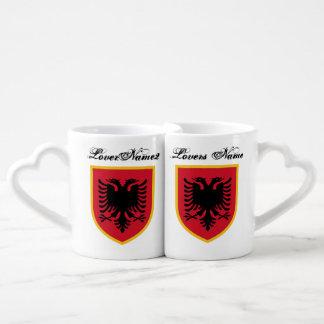 Bandera de Albania Taza Amorosa