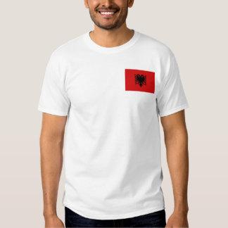 Bandera de Albania y camiseta del mapa Remeras