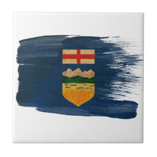 Bandera de Alberta Azulejo Cuadrado Pequeño