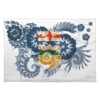 Bandera de Alberta Manteles Individuales