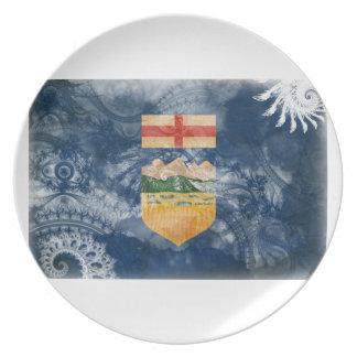 Bandera de Alberta Plato