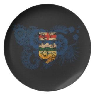 Bandera de Alberta Plato De Cena
