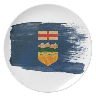 Bandera de Alberta Platos Para Fiestas