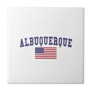 Bandera de Albuquerque los E.E.U.U. Azulejo Cuadrado Pequeño