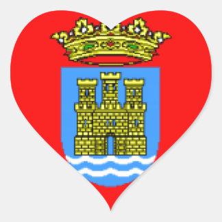 Bandera de Alcalá de Henares (España) Pegatina En Forma De Corazón