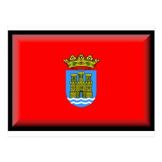 Bandera de Alcalá de Henares (España) Tarjeta Postal