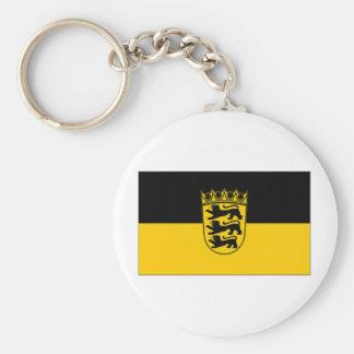 Bandera de Alemania Baden Wurttemberg Llavero Redondo Tipo Pin