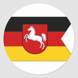 Bandera de Alemania Baja Sajonia Pegatina Redonda