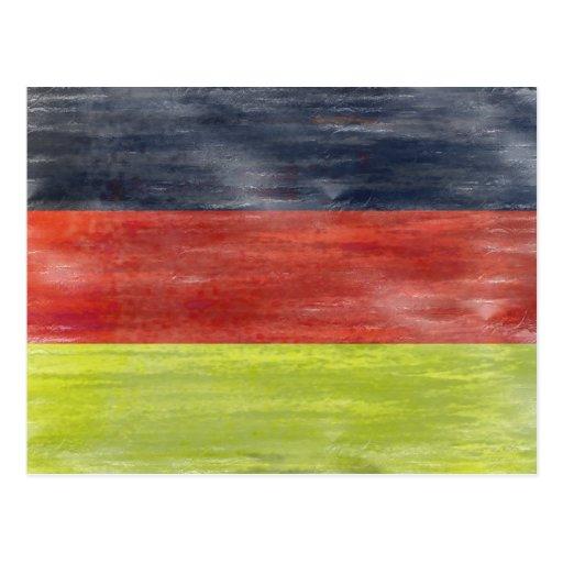 Bandera de Alemania - bandera alemana Postal