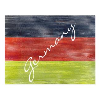 Bandera de Alemania - bandera alemana - Postales