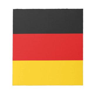 Bandera de Alemania Bloc De Papel