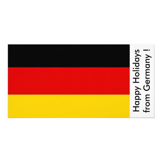 Bandera de Alemania, buenas fiestas de Alemania Tarjetas Fotograficas Personalizadas