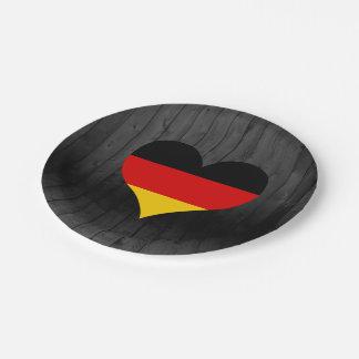 Bandera de Alemania coloreada Platos De Papel