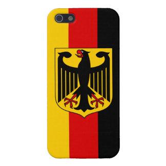 Bandera de Alemania con el iPhone listo 5 del escu iPhone 5 Carcasa