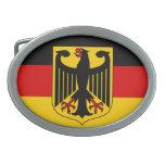 Bandera de Alemania con la hebilla del cinturón de Hebillas Cinturón Ovales