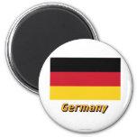 Bandera de Alemania con nombre Imán Redondo 5 Cm