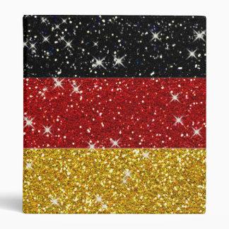 Bandera de Alemania de los brillos con las chispas