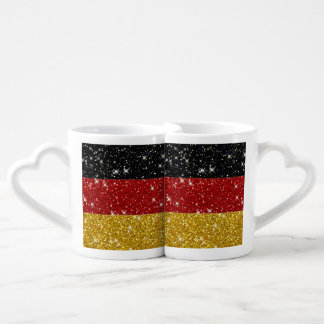 Bandera de Alemania de los brillos con las chispas Tazas Amorosas