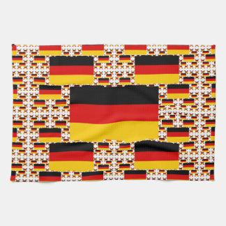 Bandera de Alemania en capas coloridas múltiples Toalla