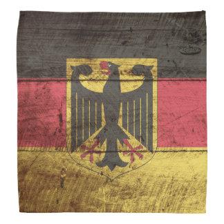 Bandera de Alemania en grano de madera viejo Bandanas